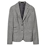 GANT Glen Check Ladies Blazer 14/40 Graphite