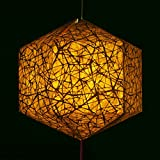 #9: Brownfolds Nest Texture Brown Paper Lantern