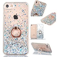 6City8Ni Clear Gel Bling Glitter Liquid Sparkly Compatible with iPhone 8 /iPhone 7