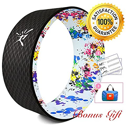 Yoga Wheel - Strongest Most Comfortable Dharma Yoga Prop Wheel for Yoga Poses, Perfect Roller For Stretching, Increasing Flexibility and Improving Backbends, 13 x 5 Inch Basic