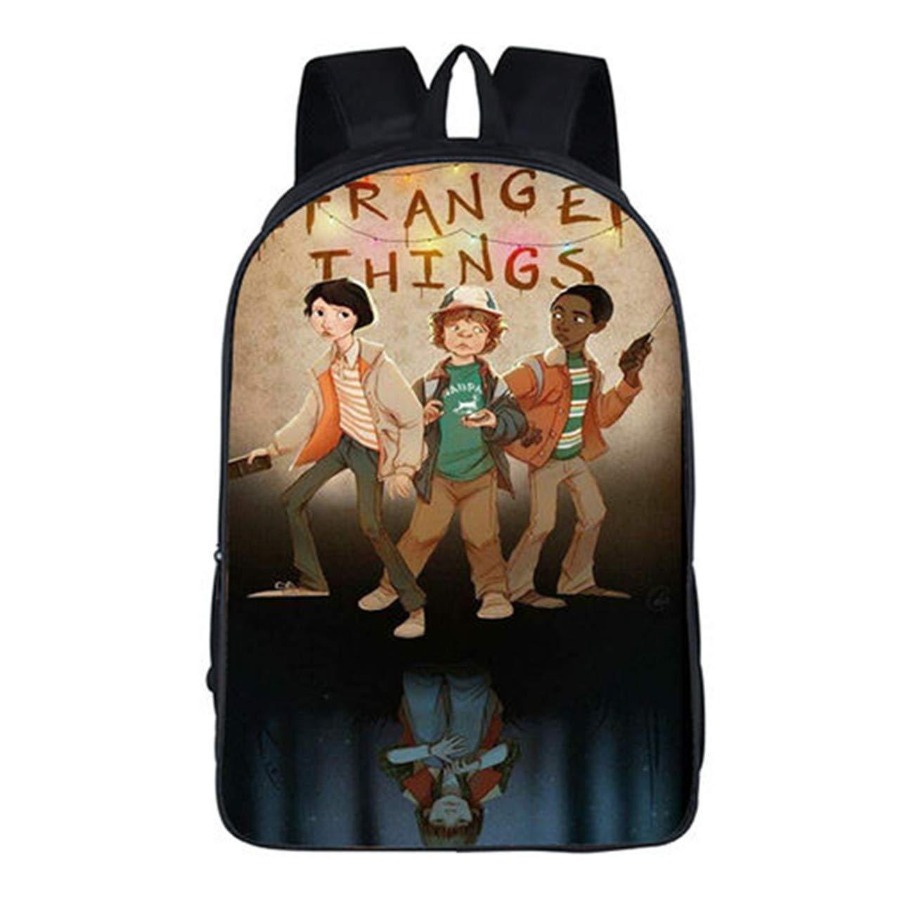 Mochila para fanáticos de Stranger Things Unisex Bolsa de ordenador portátil Bolsa de hombro Mochila de viaje escolar Bonito regalo para Stranger Things