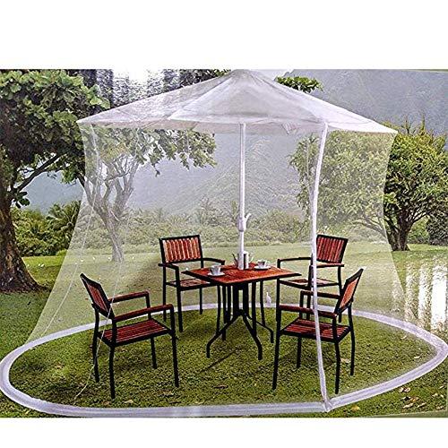 Hspoup Baldachin-Sonnenschirm mit Moskitonetz/Insektenschutzgitter und Netting-Gehäuse mit Tragetasche,335cm*220cm -