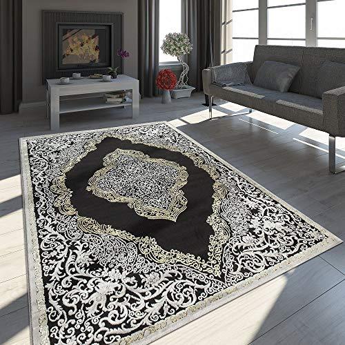 Paco Home Alfombra Oriental Moderna Efecto 3D Jaspeada