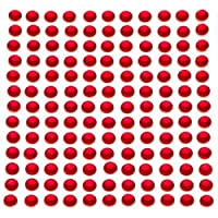 260 x 5mm Red Self Adhesive Diamante Stick on Crystals Sticky Rhinestone Gems By Accessories Attic®