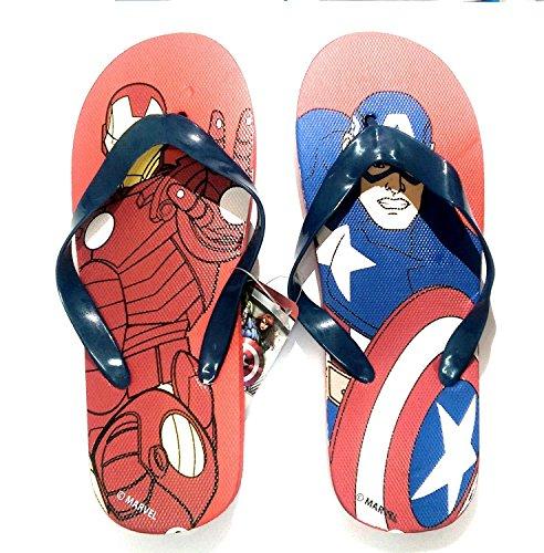 Superheld Schuhe (takestop® Flip Flops Avengers Marvel Iron Man Captain America Superheld Anzahl 26Flip Flop Kinds Kinder Sandalen Badeschuhe Meer Muster)