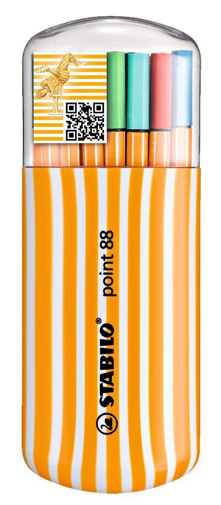 Stabilo Zebrui 8820-02 – Estuche con 20 puntafinas de colores