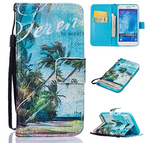 Preisvergleich Produktbild für Galaxy J5 (2015) PU Wallet Case Schutz Hülle für Samsung Galaxy J5 (2015) - Cover Flip Tasche mit Kartenfach in Buch Stil mit Kartenfach Standfunktion Magnetverschluss und Hand Wrist + Staubstecker (O11)