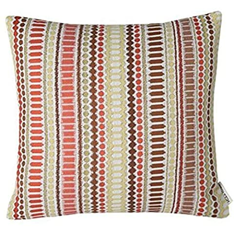 ForcoolStore acquard Colorful Stripes Accent red Throw Pillow Case Cushion Cover (Stripe Accent Pillow)