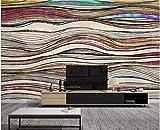 BHXINGMU Kundenspezifische Wandgemälde Schlafzimmersofa Wohnzimmer Fernsehhintergrund Abstrakte Linien Große Kunstwanddekoration 50Cm(H)×90Cm(W)