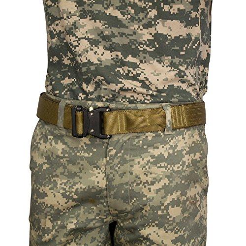 Fusion, Taktischer Gürtel / Military-Gürtel / Polizei-Gürtel / Fallschirmpacker-Gürtel, Kojotenbraun, Größe 2XL, Länge 122