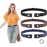 Buckle Free Invisible Stretch Belt -No Bulge Elastic Adjustable Belt Women and Men for Teans Pants