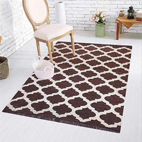 Red Hot Attractive Floral Velvet Carpet Size- 5 feet X 7 feet