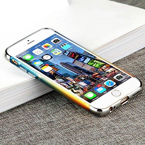 Custodia iPhone 7 Vanki® 360 Gradi della copertura completa 3 in 1 Soft TPU Hard Stilosa PC Bumper Case Cover Protettiva Posteriore per iPhone 7 4.7 blu + giallo