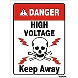 Clickforsign HV-KEEPAWAY-SB-30 Danger High Voltage Keep Away Sign Board