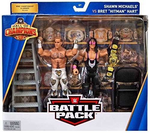 WWE Hall of Champions 2-Pack Bret Hart vs. Shawn Michaels Action Figure Limited Edition Wrestling (Shawn Michael Wwe Spielzeug)