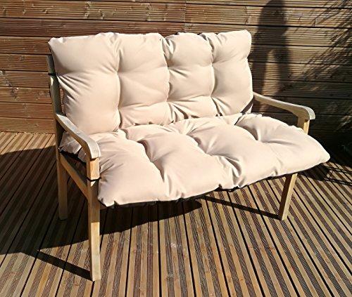 Gartenbankauflage Bankkissen Sitzkissen Polsterauflage Sitzpolster TP4 Beige 120x60x50 cm