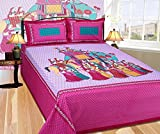 #8: Shop Jaipuri Cotton Rajasthani Traditional Double Bedsheet with 2 Pillow Covers
