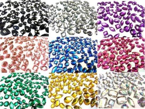 Kristallen & Edelsteine Uk 80 Schimmernd Acryl Zum Aufnähen, Aufnähbar, Austeck Glitzersteine Kristall Strassteine Edelsteine - BERNSTEIN GOLD -