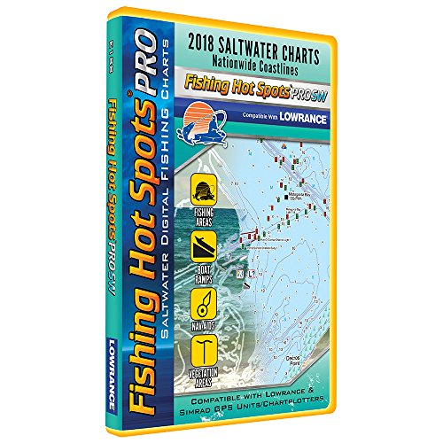 Fishing Hot Spots PRO SW - 2018 Digital Map & Fishing Chip f/Lowrance & Simrad Units - Salt Water (Lowrance-fishing-maps)