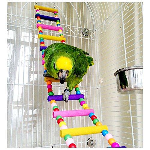 Peily® Papagei Vogel Spielzeug Holz Seil Höhle Voliere Leiter Schaukeln