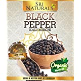 Sri Naturals Black Pepper 1 KG Bag { Premium quality and big size ,fully cleaned pepper} getting in wholesale Price for your large quantity use
