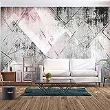 decomonkey | Fototapete Textur Geometrich 400x280 cm XL | Tapete | Wandbild | Wandbild | Bild | Fototapete | Tapeten | Wandtapete | Wanddeko | Wandtapete | Modern Beton 3d effekt rosa weiß grau schwarz | FOA0087a84XL
