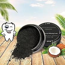 MEJOY Polvo Blanqueador de Dientes, Dental negro polvo del natural COCO Carbón Activado, Teeth Whitening Cleansing Powder