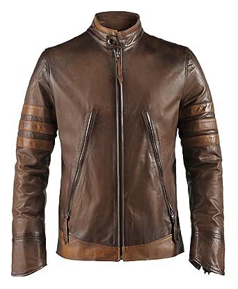 X-Men Origins Mens Leather Jacket: Amazon.co.uk: Clothing