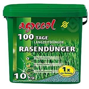 Premium Langzeitdünger für 100 Tage - Rasendünger für Spielrasen Sportrasen beanspruchten Rasen, hochergiebig 10Kg für 500m² Rasenfläche