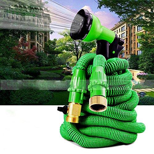 GZ Garten-Einziehbarer Wasser-Rohr-Garten-Wasser-Hochdruck-Gummischlauch-Waschanlage-Wasser-Gewehr-Werkzeug,Grün -