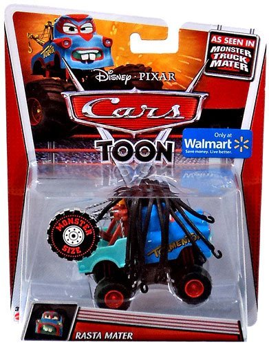 Disney Pixar Cars Toon Monster Truck Mater 1:55 Scale Rasta Mater (Disney Cars Monster Truck)