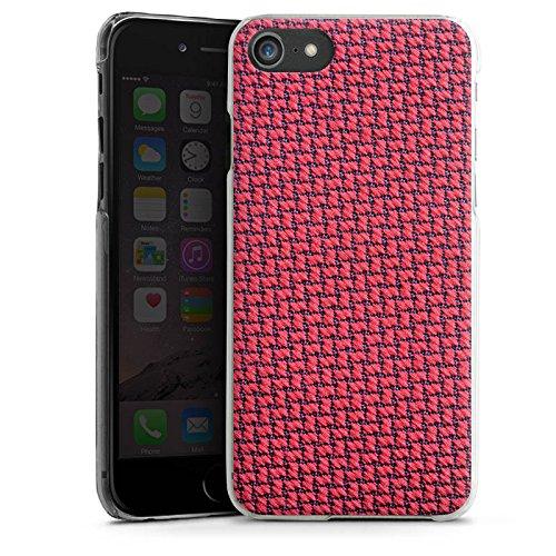 Apple iPhone X Silikon Hülle Case Schutzhülle Muster Kacheln Rot Hard Case transparent