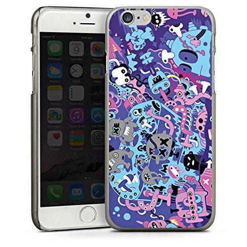 Apple iPhone 6 Housse Étui Silicone Coque Protection Bande dessinée Motif Motif CasDur anthracite clair