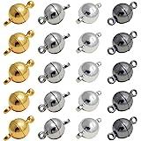 REKYO 20sets Ottone Tondo Gioielli Magnetici Chiusure Per Collana Braccialetto Rendendo Magnete Converter(mix 8mm)