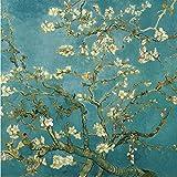 Bricolaje decoración del hogar de la lona digital de la pintura al óleo de los kits del número mundial de petróleo famosa pintura del flor del albaricoque por Van Gogh 16 * 20 pulgadas.