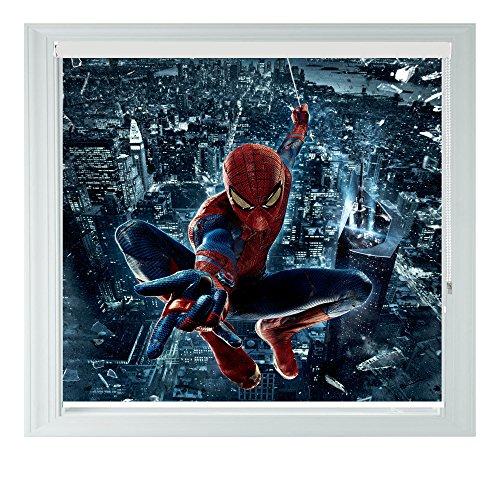 Spiderman city style diverse misure black out tende a rullo per camere da letto, bagni e cucine camper aoa®, spiderman city 3ft/91cm
