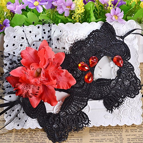 PromMask Face mask shield veil guard screen domino false front Sexy party fun mask fashion nightclub lace dance