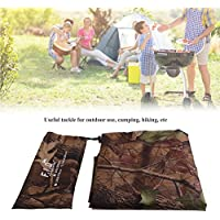 Camping Tent Tarp Shelter Cover Canopy Cover Waterproof Army Camo Camping Tarpaulin Shelter Camouflage Tent Tarp Sheet Canopy Awning Rain Cover Rainproof Mat Shelter with Carry Bag