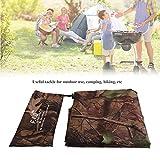 Camouflage Netz Tarnnetz 1.5x2 2x2 3x3m Camouflage Net / Netting Wasserdicht Camping Shelter Zelt Plane, Tragbare Camo Tent Tarp Shelter Tarnung Matte Strand Picknick Decke Mat mit Tragetasche(3*2.9m)