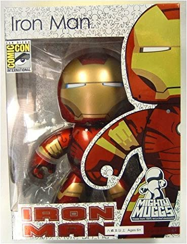 Marvel Mighty Muggs Metallic Iron Man Sdcc 2008