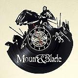 Aoligei Passeggiate a cavallo con i regali di arte di hackerato vinile nero vuoto record parete orologio etilene materiale classico creativo pareti