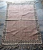 silkroude Vintage Türkisch Handgefertigt Block Print Baumwolle Kilim Kelim Teppich Läufer Kelim Teppich