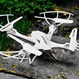Toyshine 2.4 Ghz Remote Control Drone, 6 CH 6-Axis Quadcopter, One Key Return, Headless Mode, R/C Drone - White