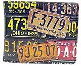 Shagwear Herren Geldbörse, Mens Wallet Designs: (Retro Kfz-Kennzeichen/Vintage License Plate)