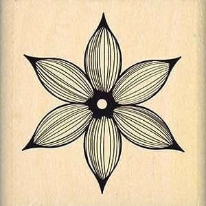 Florilèges Design FD114003 Tampon Scrapbooking Jolie Fleur Lignée Beige 5 x 5 x 2,5 cm