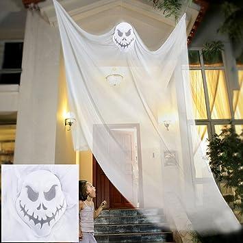ailiebhaus halloween dekoration hngender geist gruselige deko wei - Kaminumhang Dekorationen