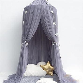 leezeshaw dome betthimmel moskitonetz vorhnge zelt mit sternen fr mdchen kleinkinder und baby kinder polyester mischgewebe violett 240 cm amazonde - Betthimmel Vorhnge
