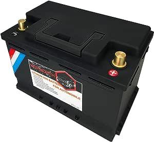 60ah Automobile Lifepo4 Batterie 12v Lithium Eisen Phosphat Autobatterie Eingebaute Bms Spannungsschutzplatine Deep Cycle Lfp Batterie Für Wohnmobile Wohnmobile Marine Auto Überland Van Lkw Auto