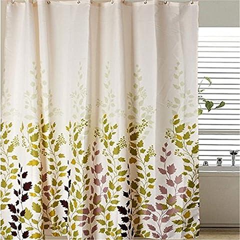 MIWANG Die Nordischen kreative Vorhang dicken Polyester, Badezimmer Maple Leaf