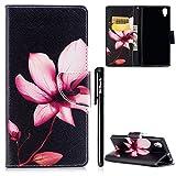 Sony Xperia XA1 Plus Hülle,BtDuck Slim Hülle Leder Tasche Magnetisch Brieftasche Mädchen Kartenfächer Schutzhülle Flip Cover mit Silikon Hülle Handyhülle für Sony Xperia XA1 Plus Silikon Backcover
